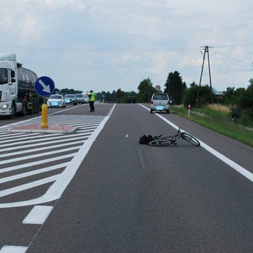 Wypadek w Zadąbrowiu z udziałem rowerzysty